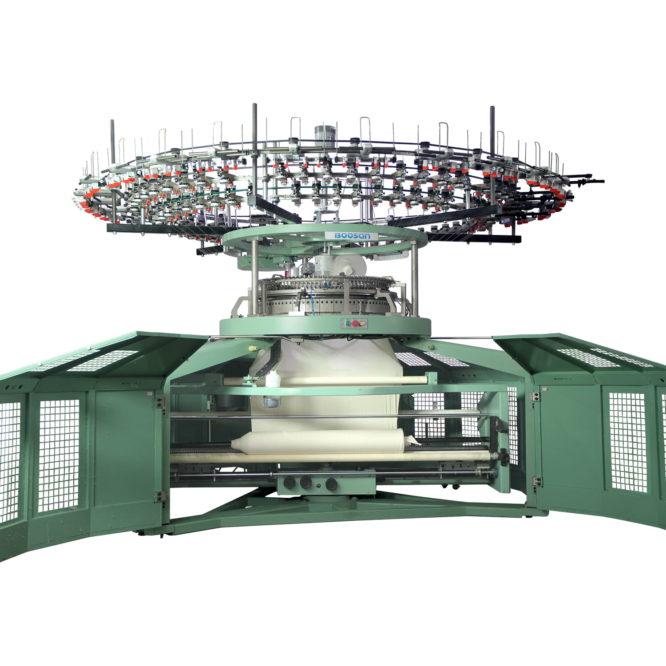 Tek Plaka Yuvarlak Örme Makinesi - Açık En- Dört Parça - PLT3
