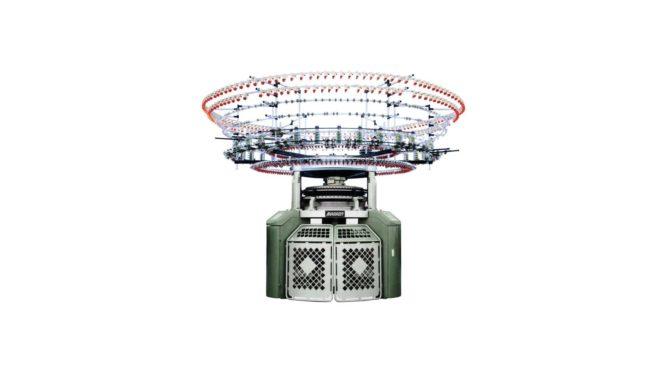 آلة حياكة دائرية اوتوماتيكية 6 ( 4 ) ألوان تحكم كمبيوتر كامل