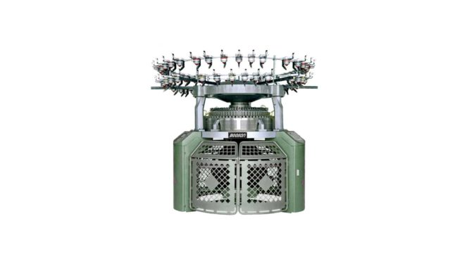 Полностью электронная кругловязальная жаккардовая машина