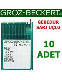 Groz Beckert DB X 1 Düz Makine İğnesi (Gebedur - Sarı Uç - İnce Dip)