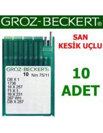 Groz Beckert DB X 1 Düz Makine İğnesi (San - Kesik Uçlu) (İnce Dip)