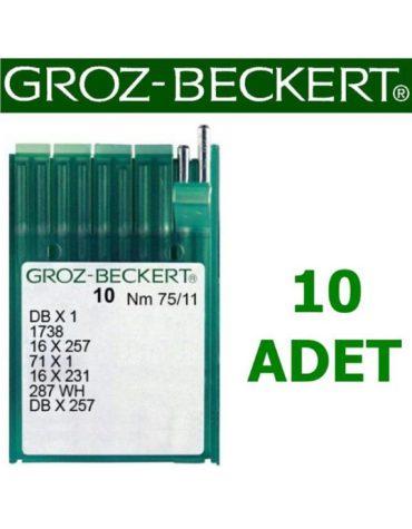Groz Beckert DB X 1 Düz Dikiş Makinesi İğnesi (İnce Dip) (10 Adet)