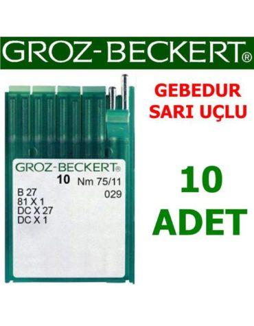 Groz Beckert DC X 27 Overlok Makinesi İğnesi (Gebedur-Sarı Uçlu İğne) (10 Adet)