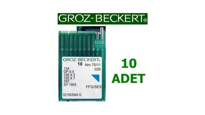 Groz Beckert DP X 5 Çift İğne Dikiş Makinesi İğnesi (10 Adet)