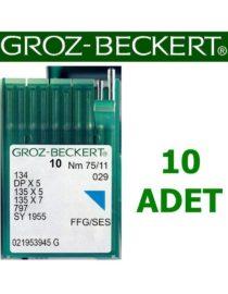 Groz Beckert DP X 5 Düz Makine İğnesi (Kalın Dip) (10 Adet)