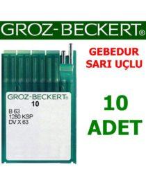 Groz Beckert DV X 63 Reçme Makinesi İğnesi (Gebedur - Sarı Uçlu İğne)