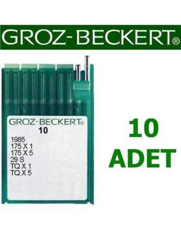 Groz Beckert TQ X 1 Düğme Dikiş Makinesi İğnesi (Kısa) (10 Adet)