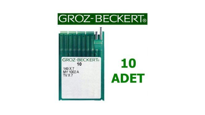 Groz Beckert TV X 7 Kollu Gömlek Makinesi İğnesi (Uzun) (10 Adet)