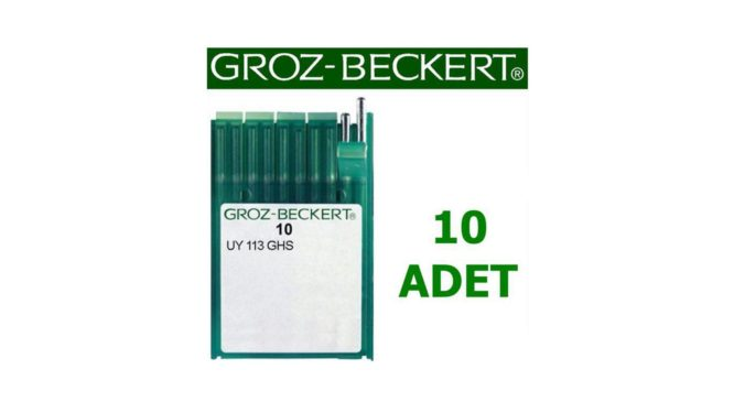 Groz Beckert UO X 113 Lastik Dikiş Makinesi İğnesi (10 Adet)
