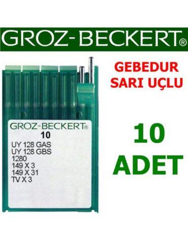 Groz Beckert UY X128 Kemer Makinesi İğnesi (Gebedur - Sarı Uçlu)