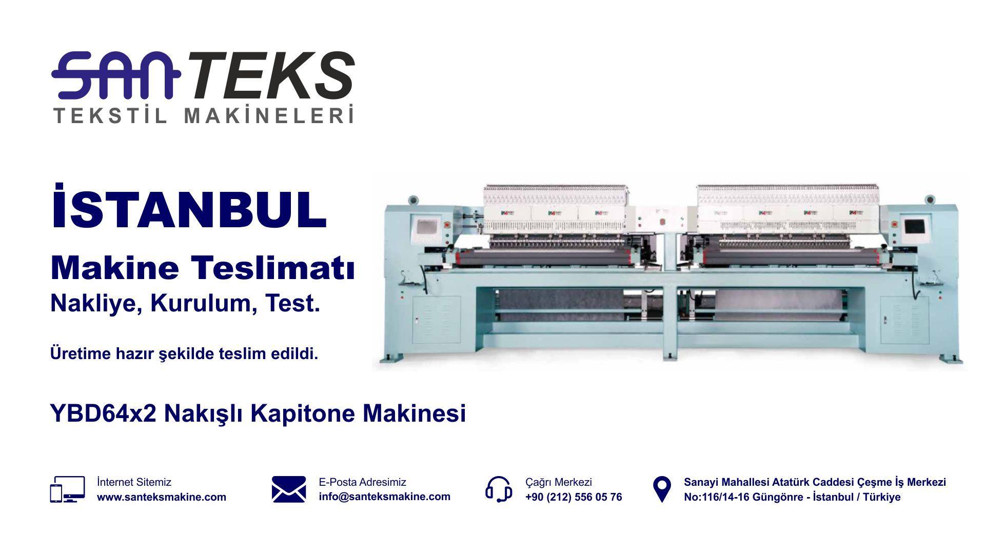 YBD64x2 Nakışlı Kapitone Makinesi - İstanbul Teslimat